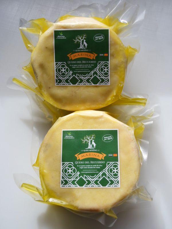 Queso de cabra curado en aceite de oliva virgen extra